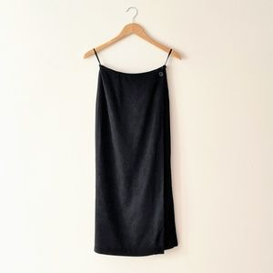 Banana Republic Vintage Black Wrap Maxi Skirt